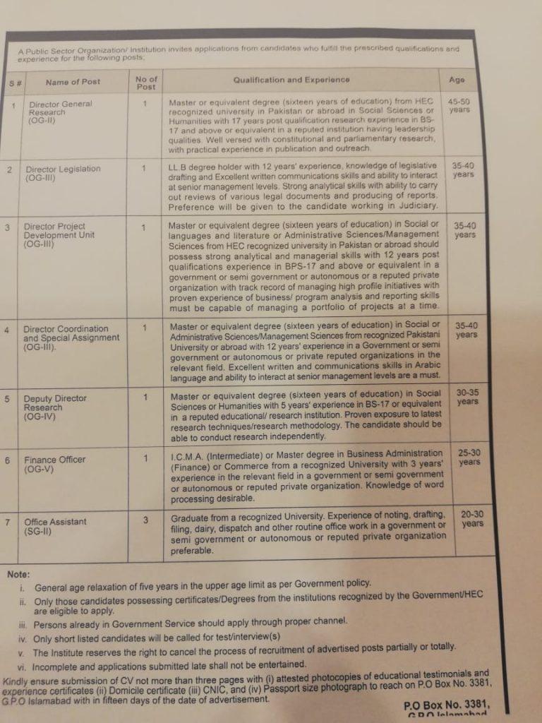 Public Sector Organization Jobs OTS Result