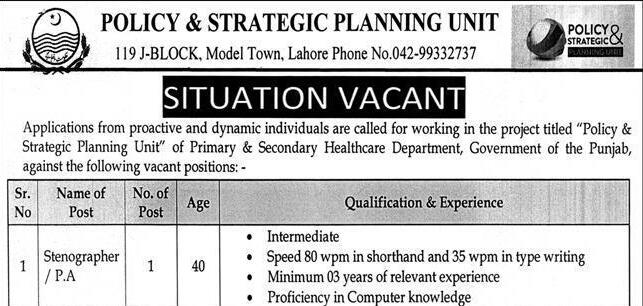 Policy Strategic Planning Unit Stenographer PA Jobs NTS Result