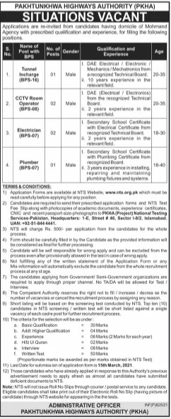 Pakhtunkhwa Highways Authority PKHA Mohmand Jobs NTS Test Result